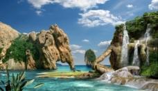 创造性的岩石组合图片