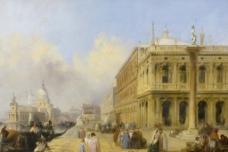 油画建筑图片