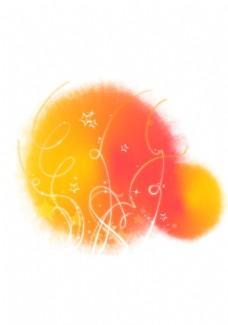 橙色墨迹图片