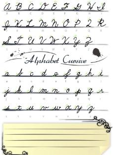 手写字母图片