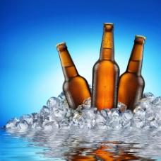 冰块啤酒 冰块图片