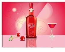 粉色葡萄酒瓶图片