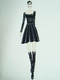 黑客帝国皮裙设计图片