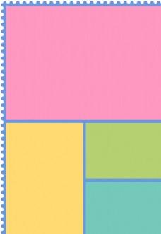 四色分栏打底图图片