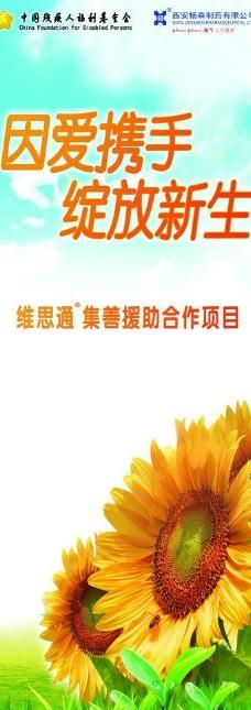 中国残疾人易拉宝图片