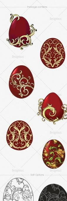 手绘彩蛋图片