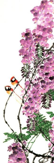 紫藤国画图片