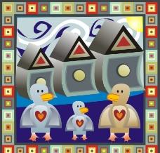 鸭子花纹图片