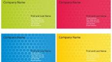 四色名片蜂窝背景图片