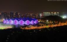 深圳龙岗大运场馆夜景图片