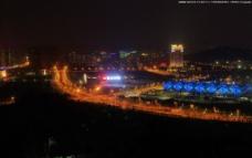 深圳龙岗大运中心夜景图片