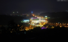 深圳龙岗大运公园远眺图片
