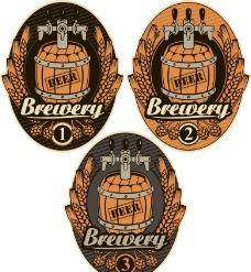 啤酒标签 酒桶图片