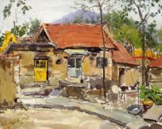 乡景 油画图片