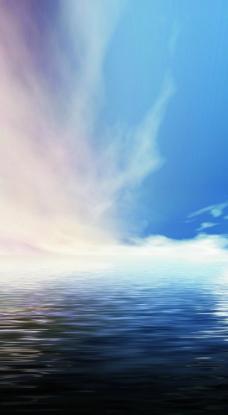 天空与海平面图片