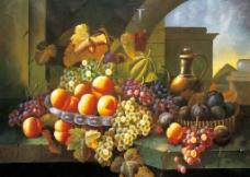 油画 水果 美酒图片