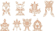 藏族吉祥八宝图片