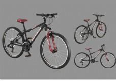 黑色山地自行车