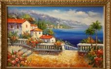 油画 别墅图片
