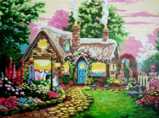 花园小屋图片