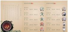 茶业 茶谱宣传单图片