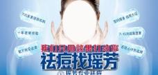 蓝色美容祛痘包柱广告图片