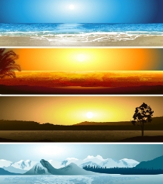 海边 夕阳 草原 雪图片