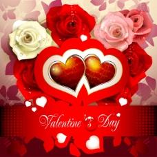 情人节浪漫花卉装饰背景图