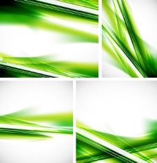 绿色动感线条矢量背景图