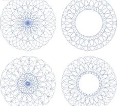 欧式防伪花纹矢量素材图片