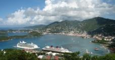 海边小镇风景图片