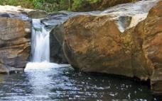 山间森林小溪图片
