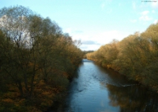 秋天的小河边图片