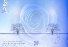 紫蓝色梦幻背景图片