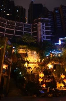 洪崖洞夜景图片