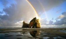 雨后海边风景图片