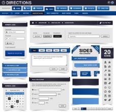 网页设计模板矢量素材下载
