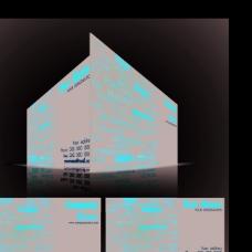 字母科技背景名片矢量模板