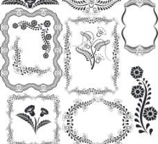 欧式花纹矢量素材图片
