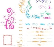 精美花纹矢量欧式花纹图片