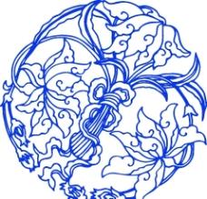 青花瓷花纹图片