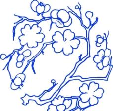 青花瓷花纹 桃花图片