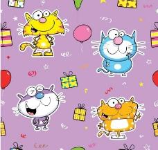 可爱猫咪节日背景图片