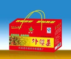 外婆菜礼盒包装(展开图)图片