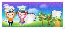 韩国卡通儿童矢量图下载