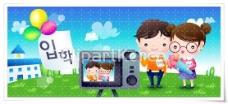 韩国可爱卡通人物矢量图下载