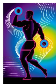 健身人物插画矢量图下载