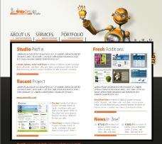 机器人网页设计图片