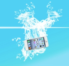iphone5 水花图片