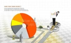 扇形数据图图片